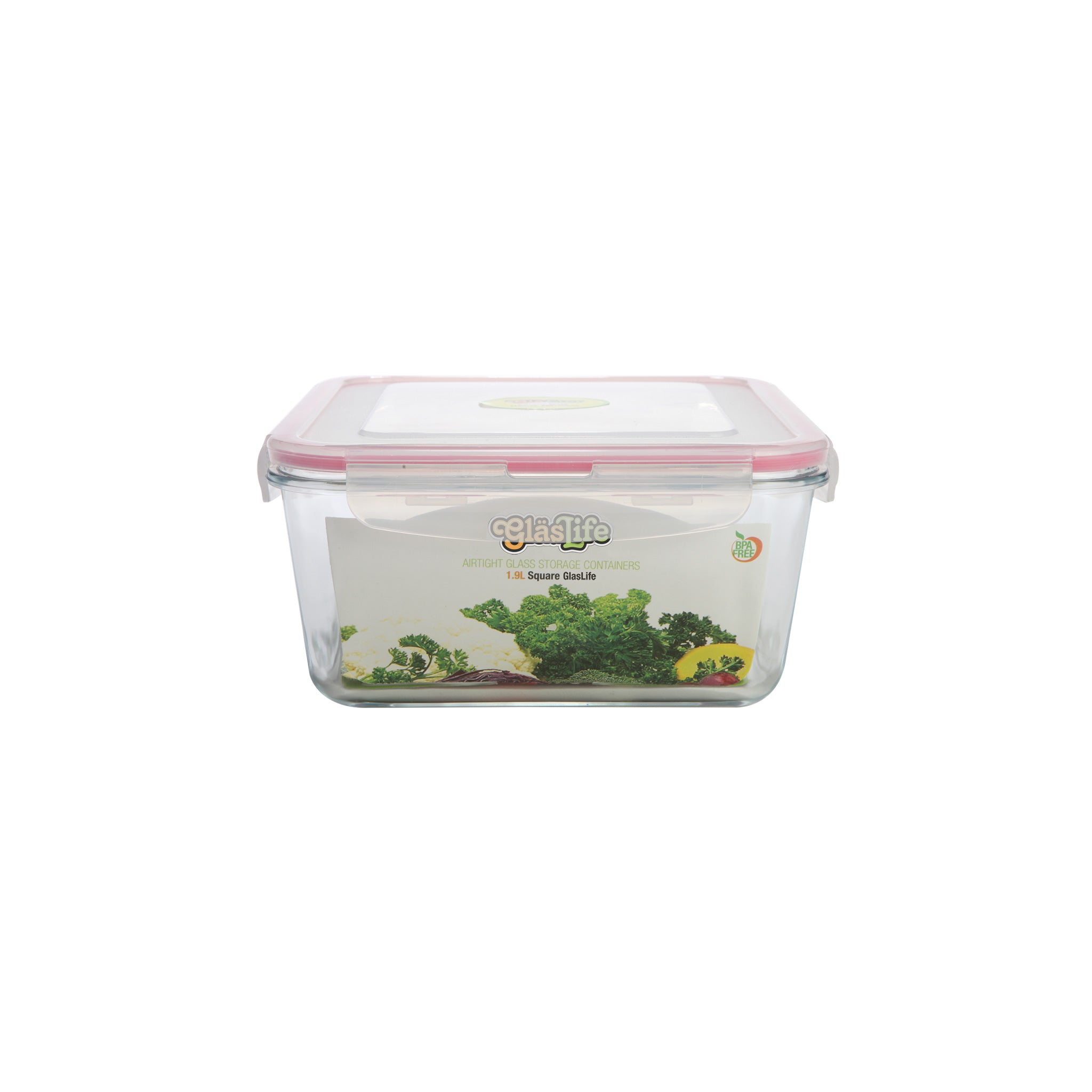 GlasLife® Air-Tight Glass Storage Container - Square GLS05 Small 17 oz / 0.5 L