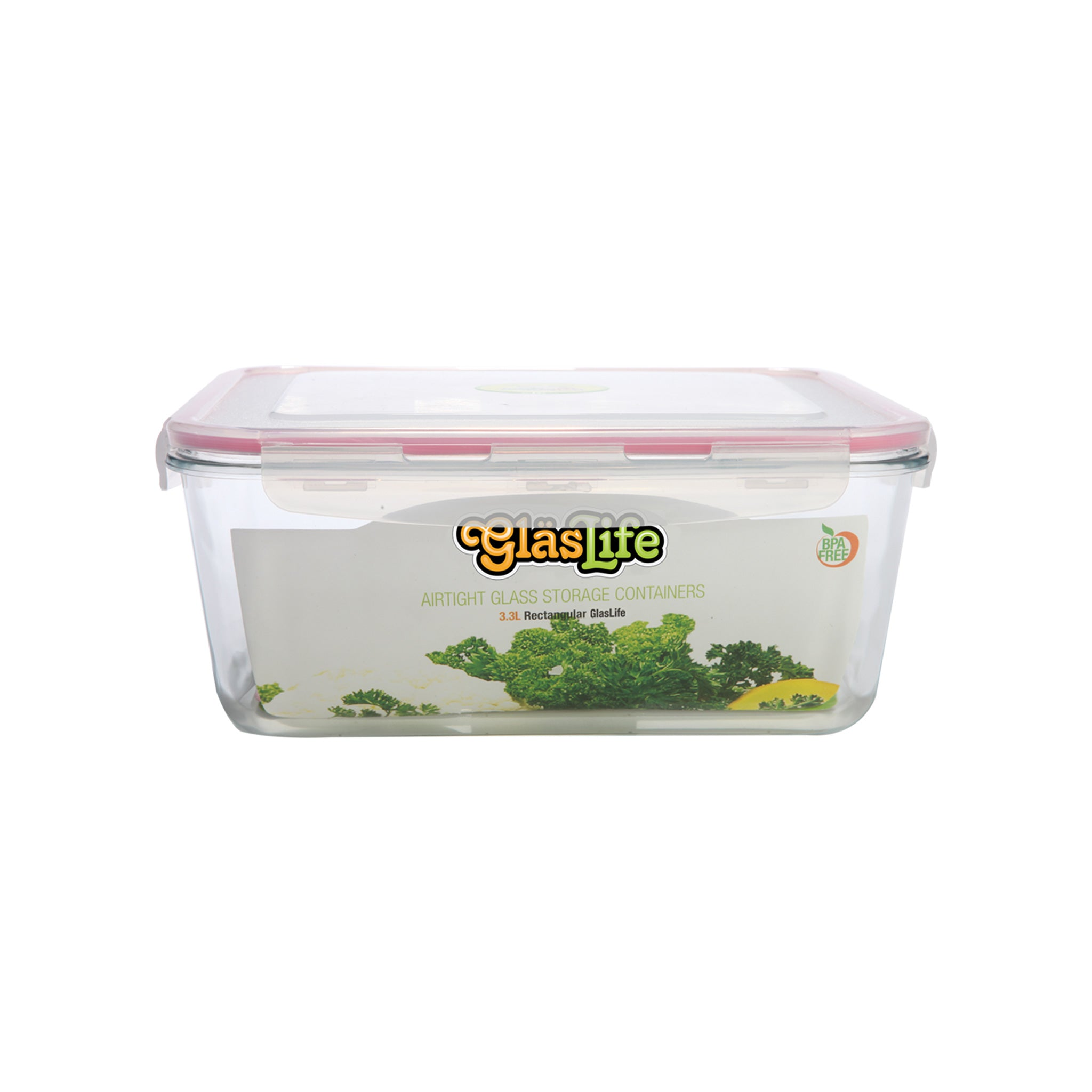 GlasLife® Air-Tight Glass Storage Container - Rectangular GLR10 Medium 34 oz / 1.0 L