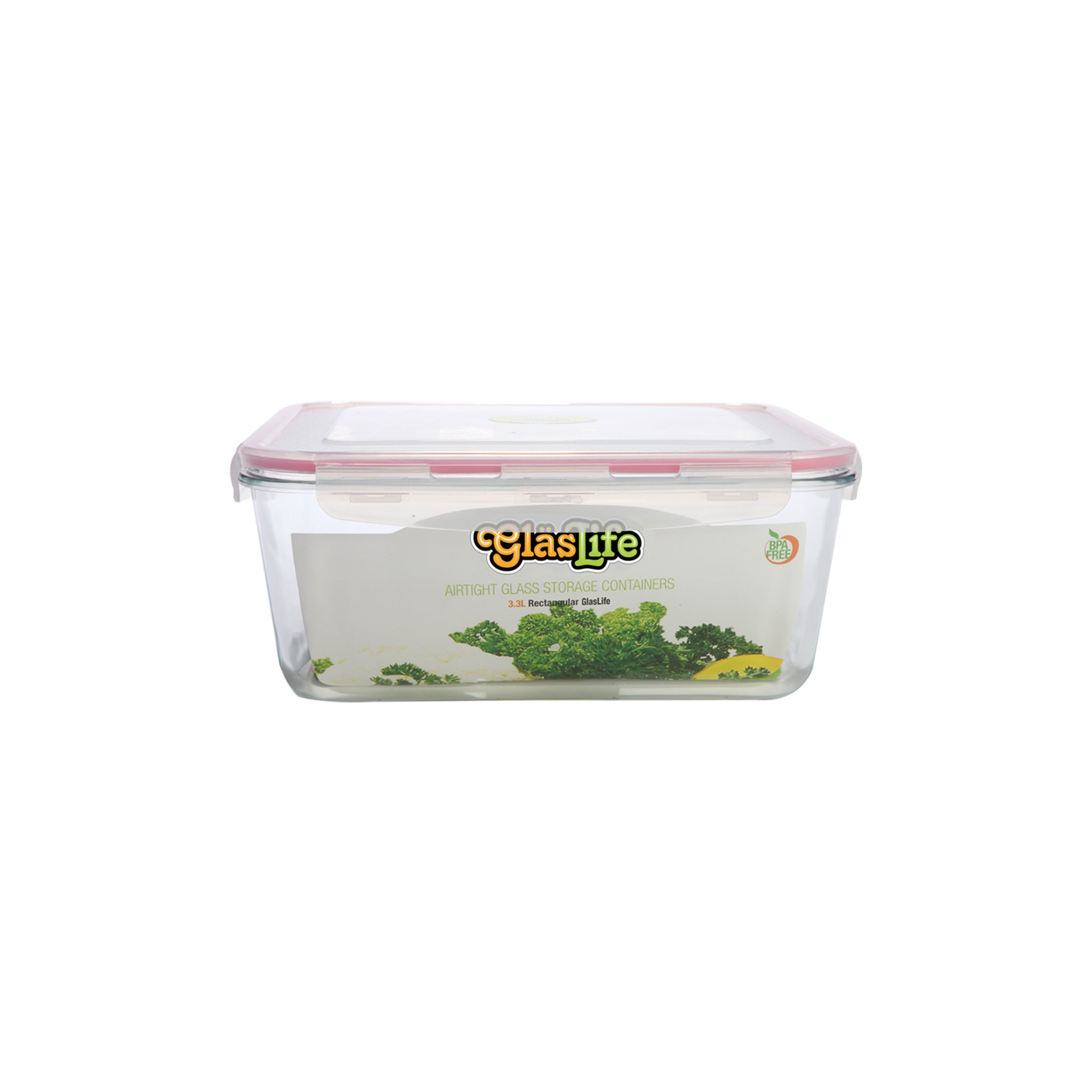 GlasLife® Air-Tight Glass Storage Container - Rectangular GLR045 Small 15 oz / 0.45 L