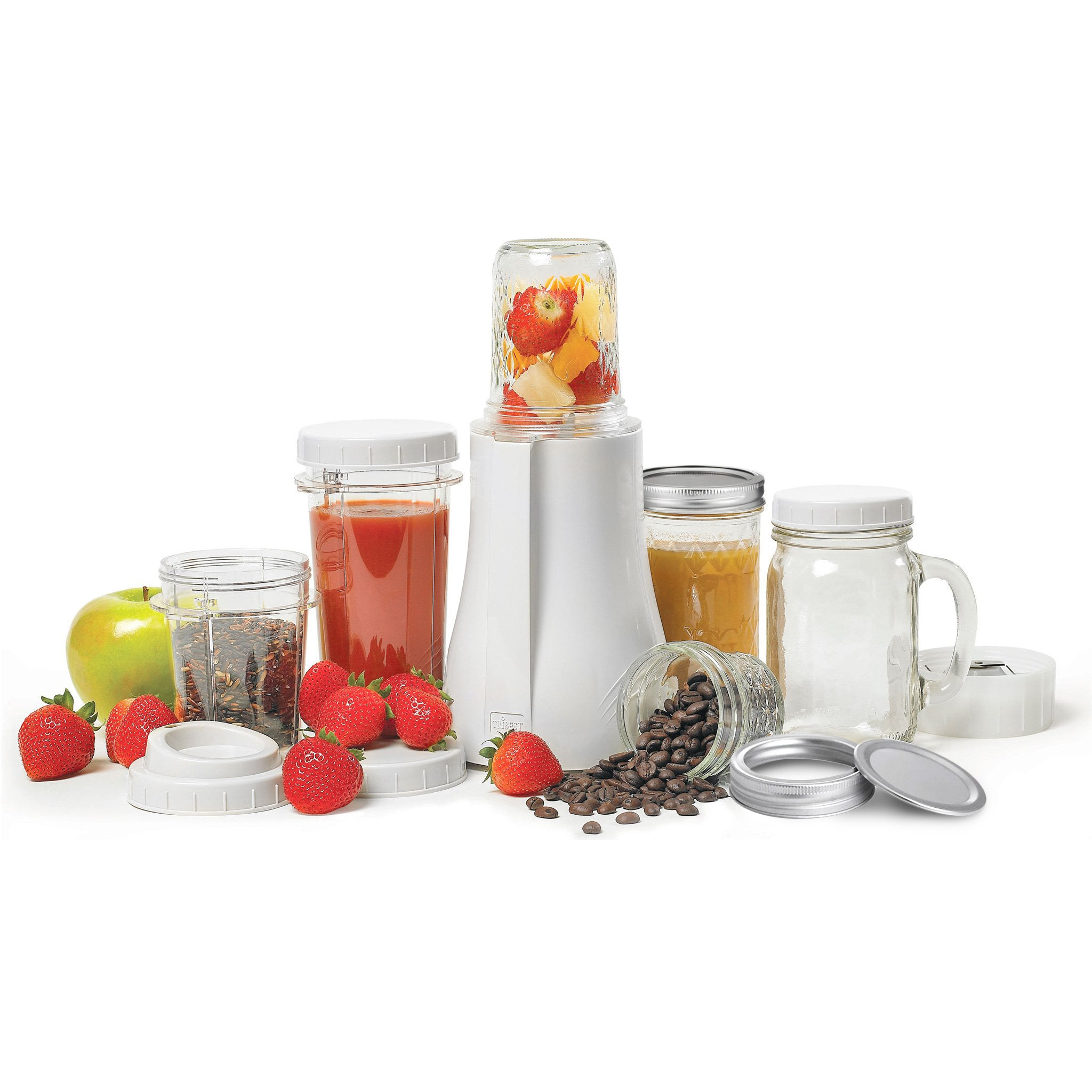 Personal Blender Original Single-Serving Blender (16-Piece Mason Jar Set) PB-350-A - Tribest