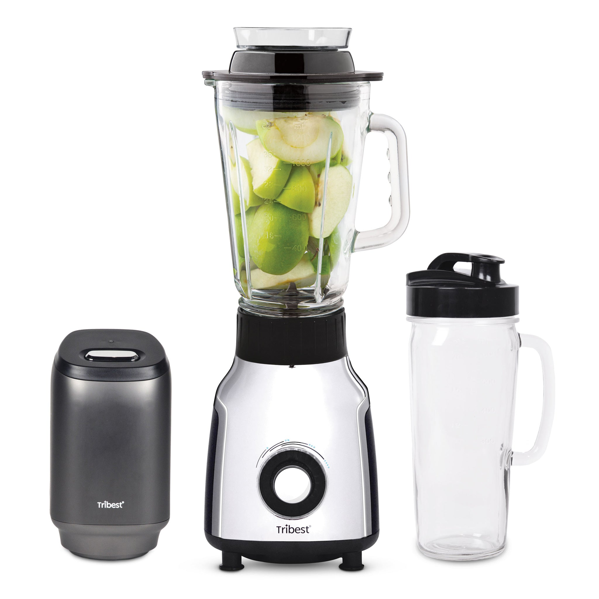Glass Personal Blender Single-Serving Vacuum Blender PBG-5001-A - Tribest