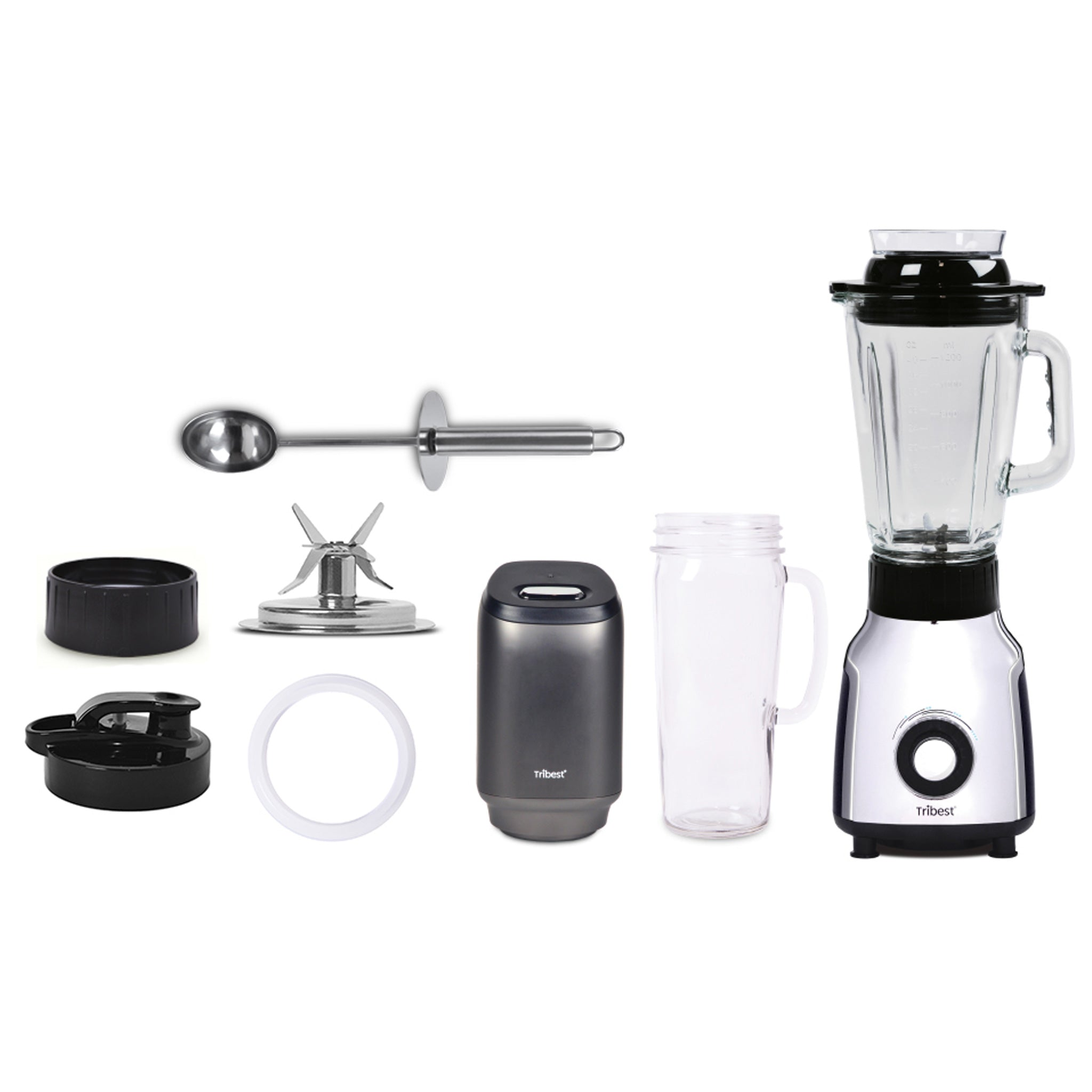 Glass Personal Blender Single-Serving Vacuum Blender PBG-5001-A - Parts - Tribest