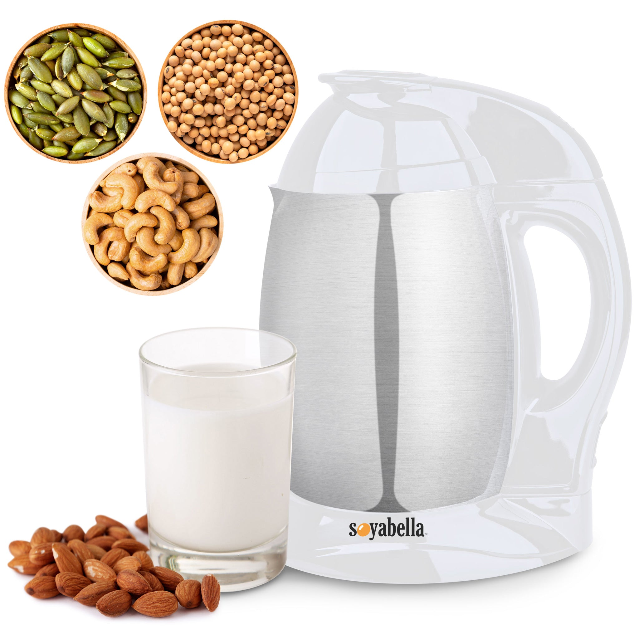 Soyabella Automatic Nut & Seed Milk Maker in White SB-130W-B - Tribest