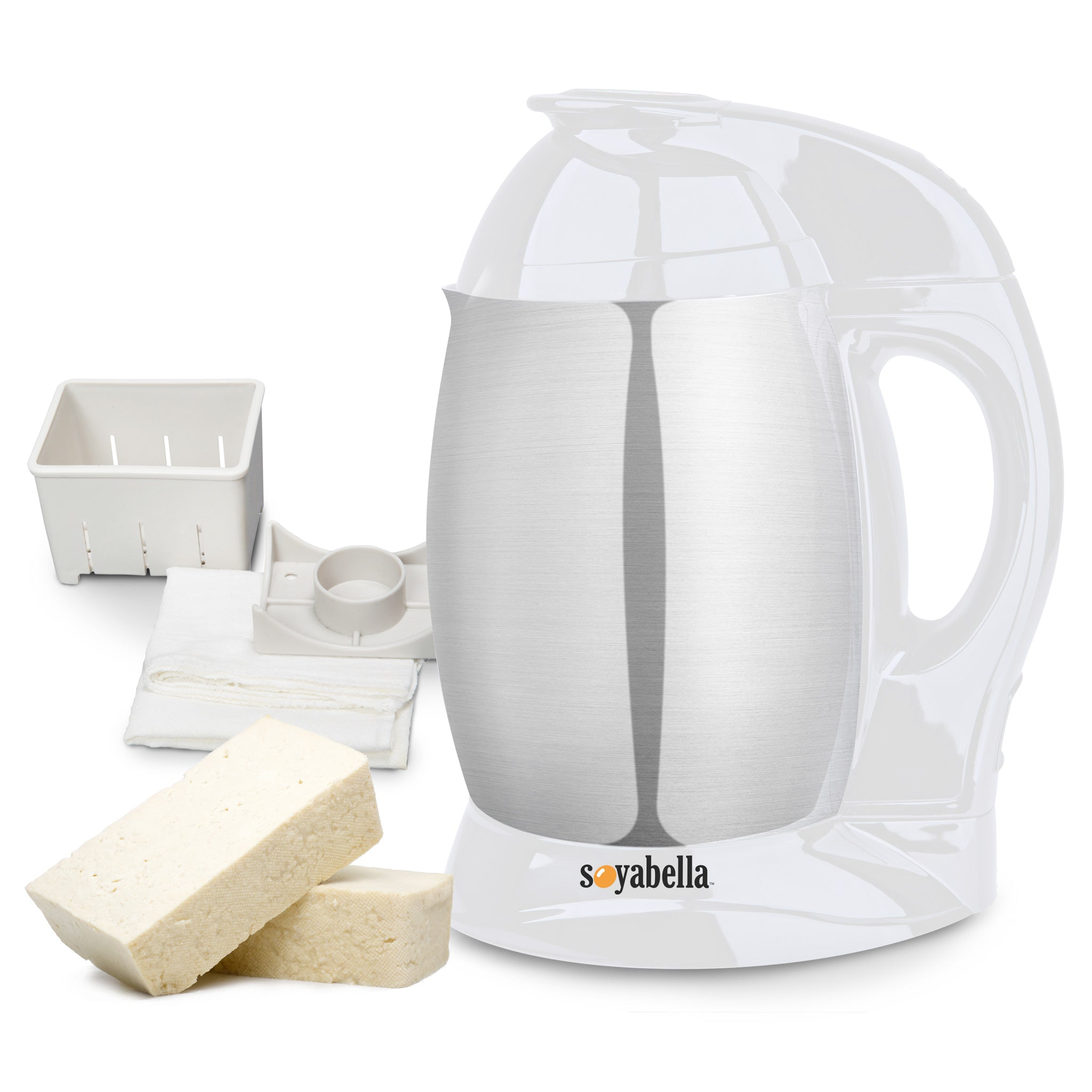 Soyabella® Automatic Nut & Seed Milk Maker with Tofu Kit in White SB-132W-B - Tribest