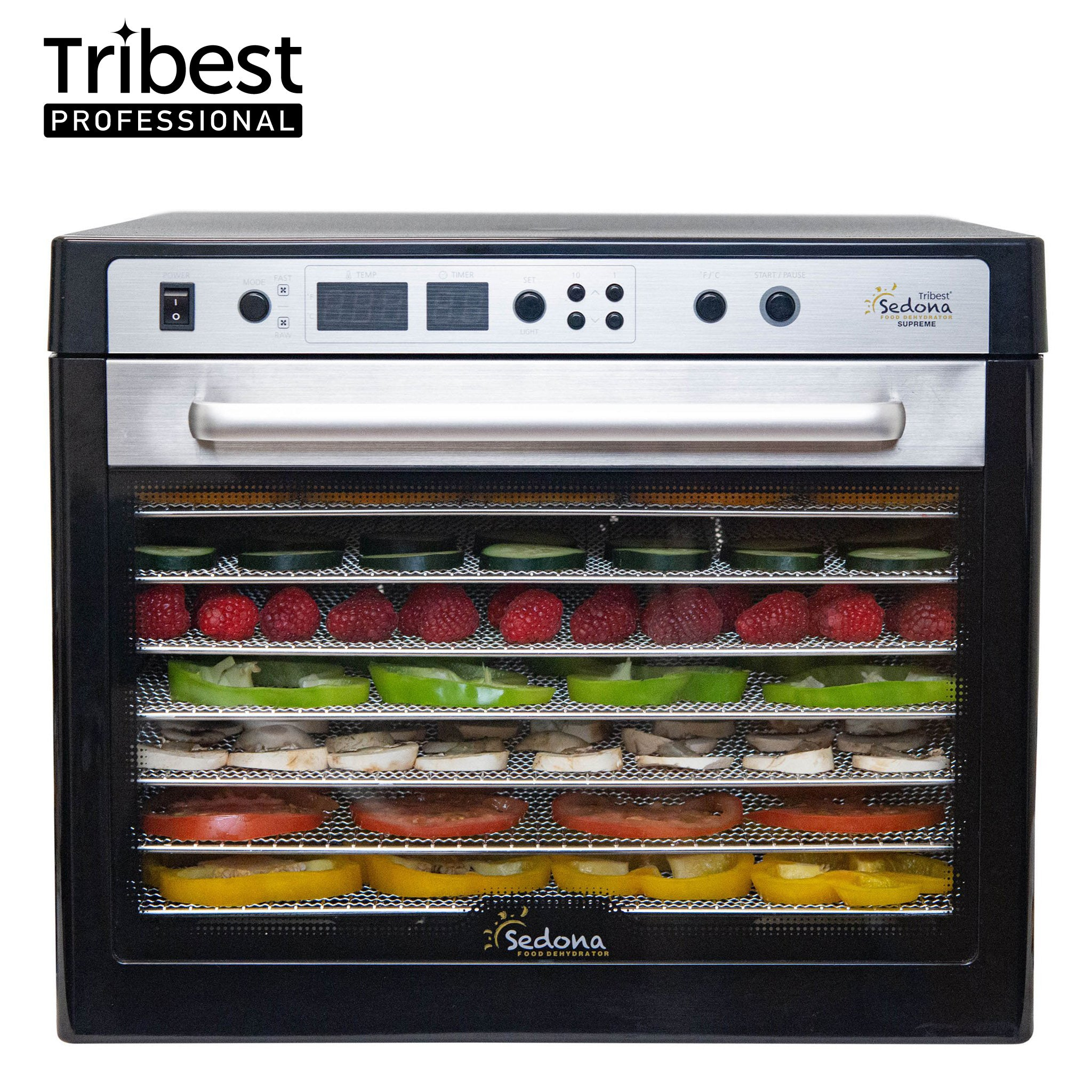 Sedona Supreme Commercial Food Dehydrator with Stainless Steel Trays SDC-S101 - Tribest