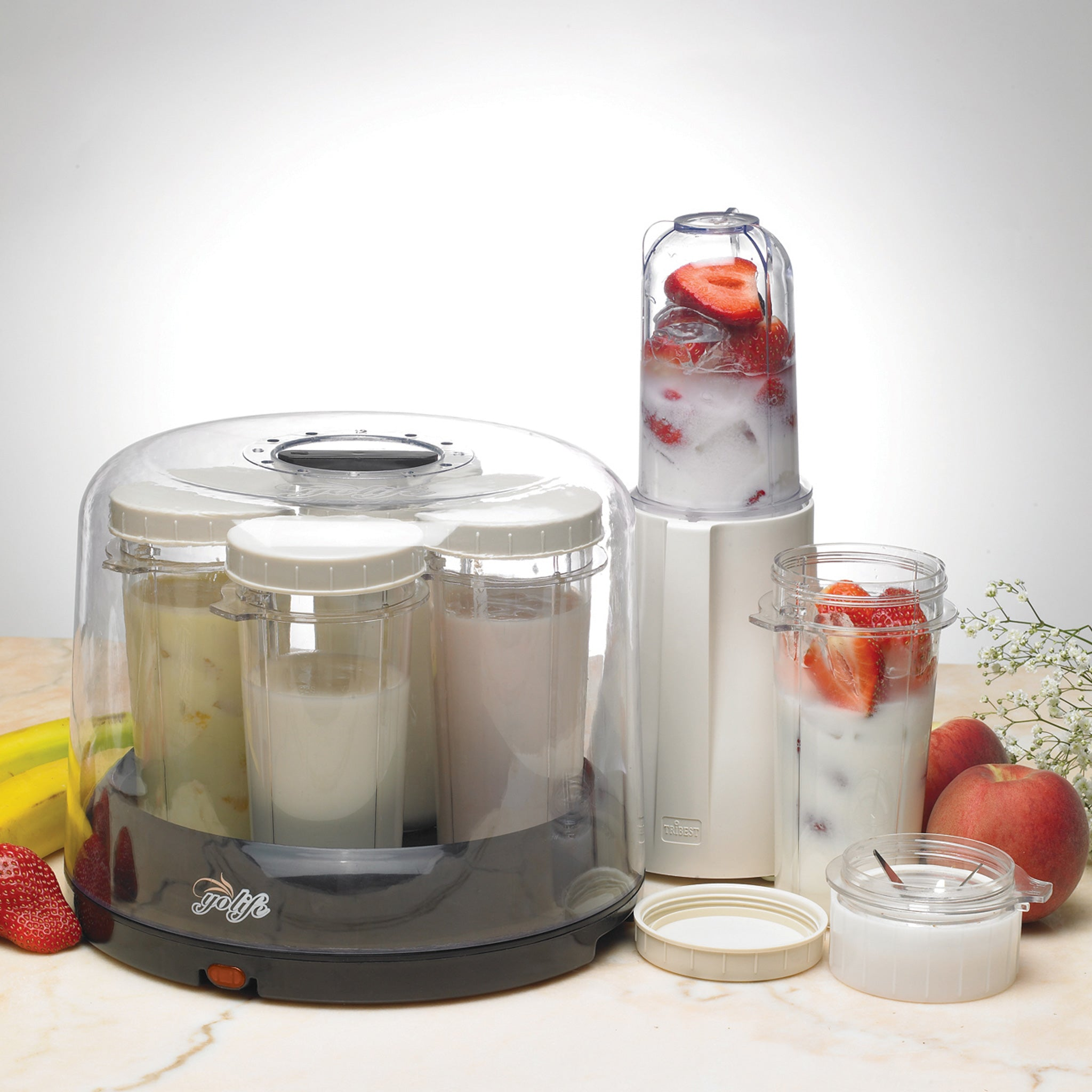 Yolife Yogurt Maker YL-210-A - Make Yogurt Inside Personal Blender Containers - Tribest