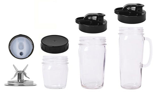 Clean and Healthy stainless steel blade and glass containers  - Glass Personal Blender