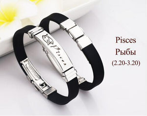 Stainless Steel Zodiac Sign Bracelet