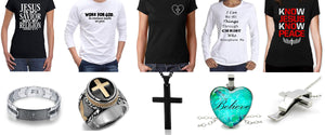 Short, long sleeve Christian Tees and Christian Jewelry. Express your Faith. DexExpressinc.com