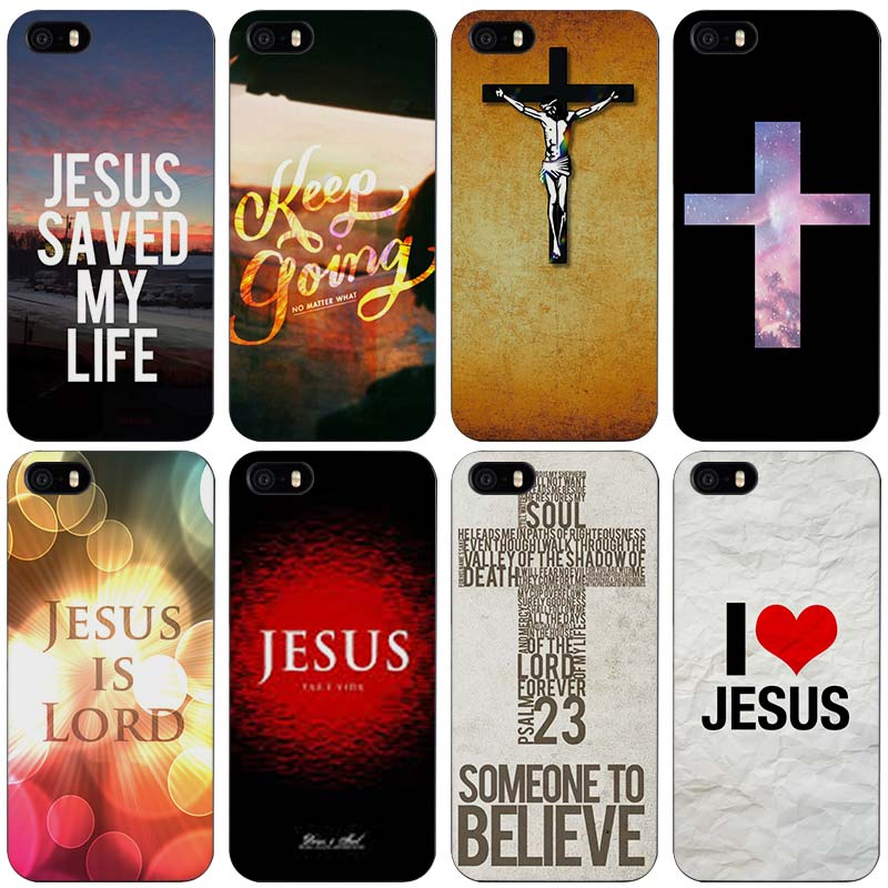 The Cross Black Plastic Case Cover Shell for iPhone Apple 4 4s 5 5s SE 5c 6 6s 7 Plus