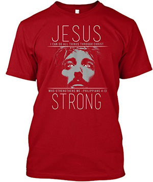 2018 Short Sleeve T Shirts  Jesus Strong Christian  T-Shirt