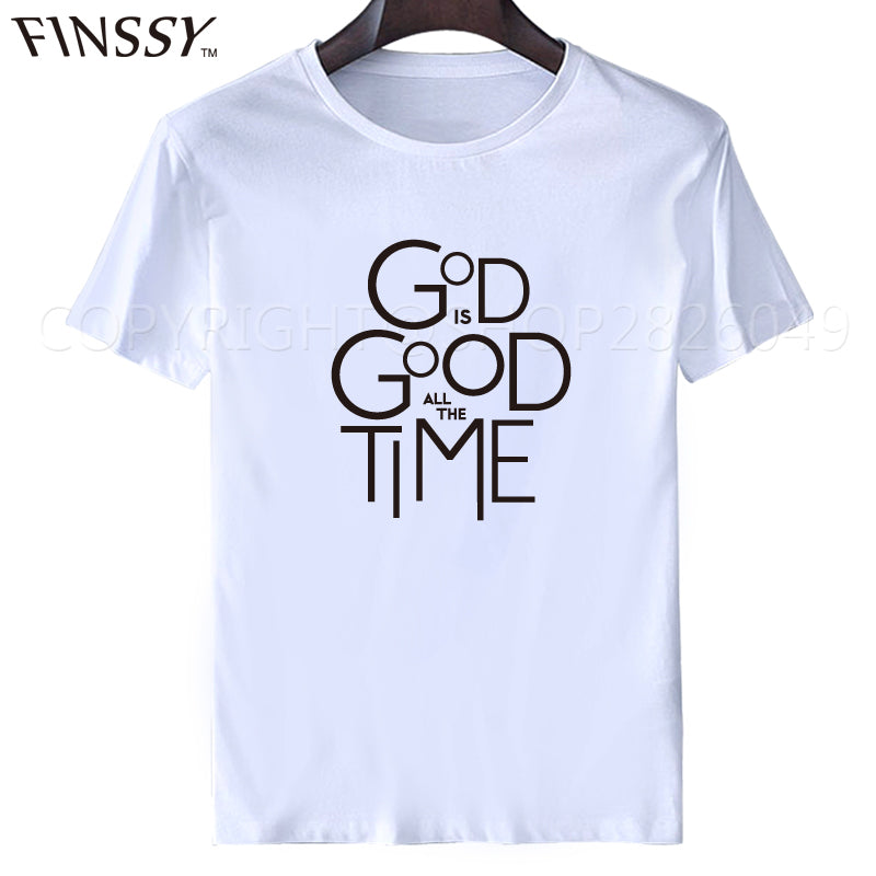 God Is Good All the Time  Men's Round Neck Tees Shirt M - XXXL
