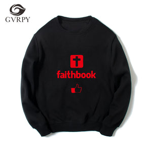 Faithbook  Friend Long Sleeve Cotton O-Neck Pullover