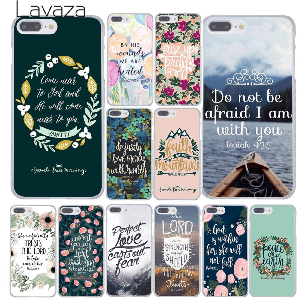 Christian Phone Case for Apple iPhone 10 X, 8, 7, 6, 6s Plus, 5, 5S, SE, 5C, 4, 4S, Coque Shell