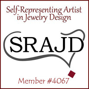 Self representing artist in jewelry design logo with members number 4067
