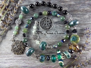 Green Man Pagan Prayer Beads