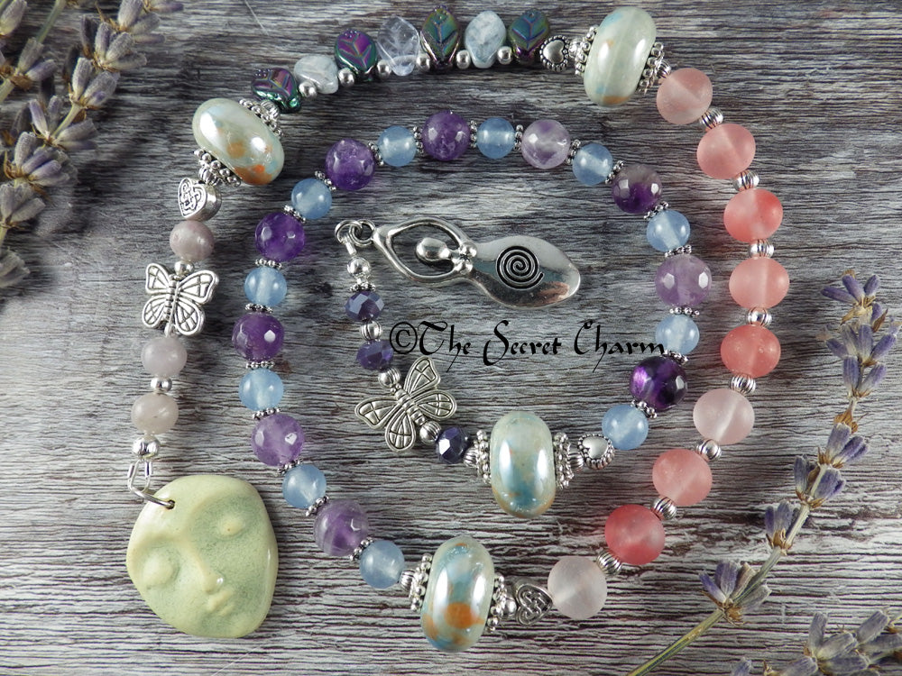 Celtic Goddess Aine Pagan Prayer Beads
