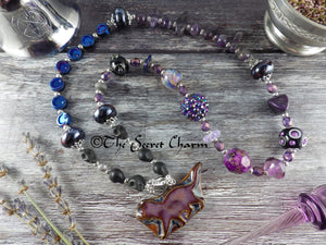 Witch's Cat Pagan Prayer Beads Necklace