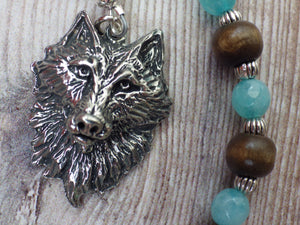 Wolf Spirit Pagan Prayer Beads