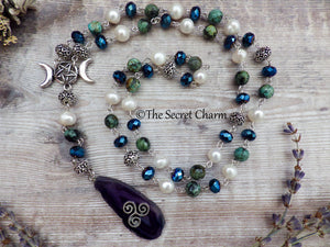 Celtic Triple Moon Goddess Rosary