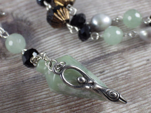 Goddess Hekate Pagan Rosary Necklace