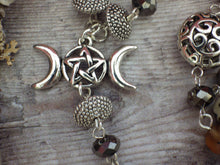 Moon Goddess Cerridwen Pagan Rosary Necklace