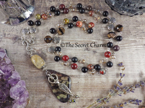 High Priestess Wiccan Rosary Necklace