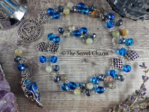 Celtic Goddess Pagan Rosary Necklace