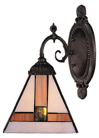 One Light Tiffany Bronze Wall Light - Style: 7263864