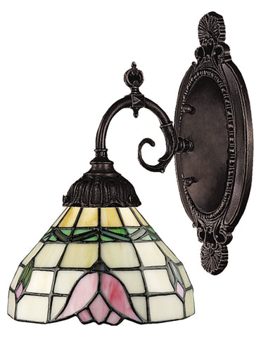 One Light Tiffany Bronze Wall Light - Style: 7263882