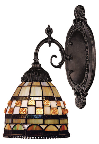 One Light Tiffany Bronze Wall Light - Style: 7263886