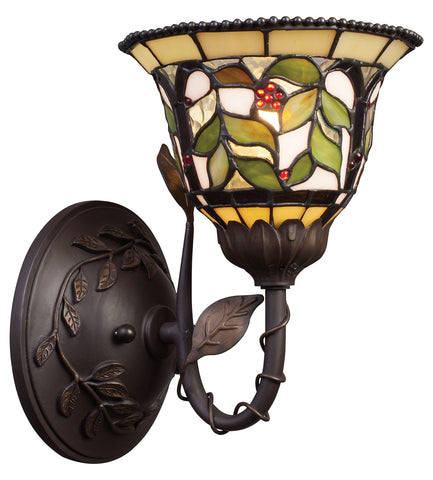 One Light Tiffany Bronze Wall Light - Style: 7264058