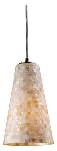 One Light Satin Nickel Down Pendant - Style: 7264438