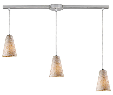 Three Light Satin Nickel Multi Light Pendant - Style: 7264446