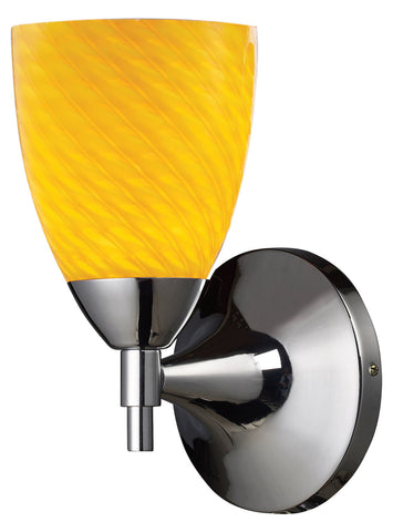 One Light Polished Chrome Canary Glass Wall Light - Style: 7264624