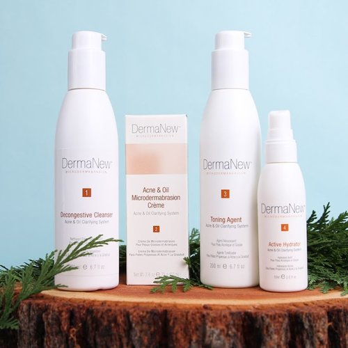 DermaNew Microdermabrasion Acne & Oil Skin Care Collection