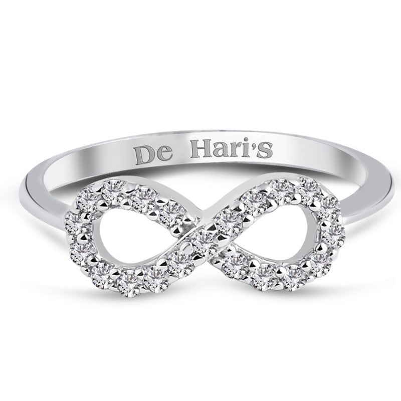 Infinity Sterling Silver Ring Dipped in Rhodium