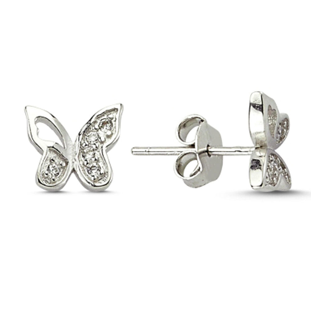 bunny stud itm in girl girls diamonds with jewellery sterling silver earrings s rabbit