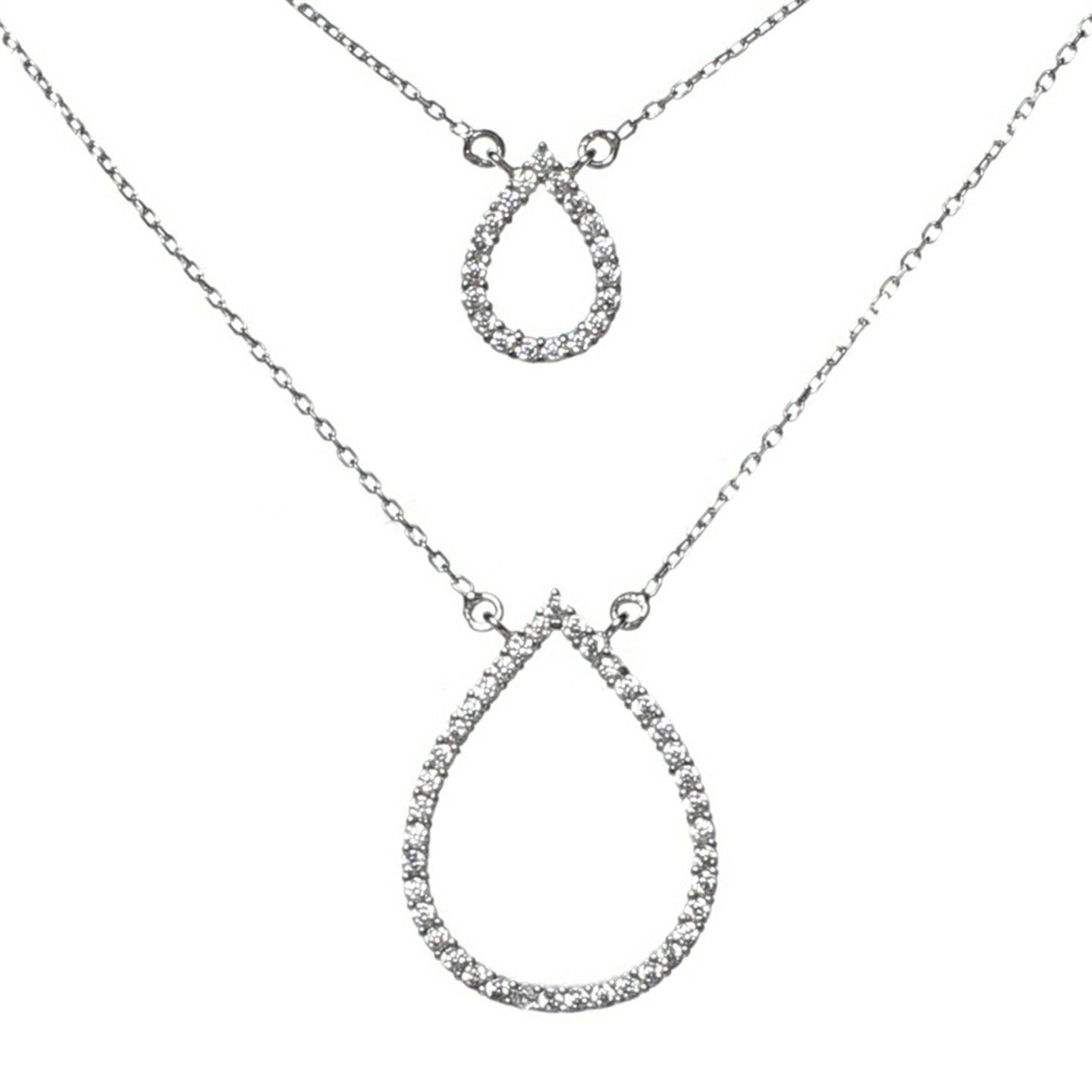 normal necklace jewelry in gallery pendant zirconia lyst clear metallic cubic product nadri