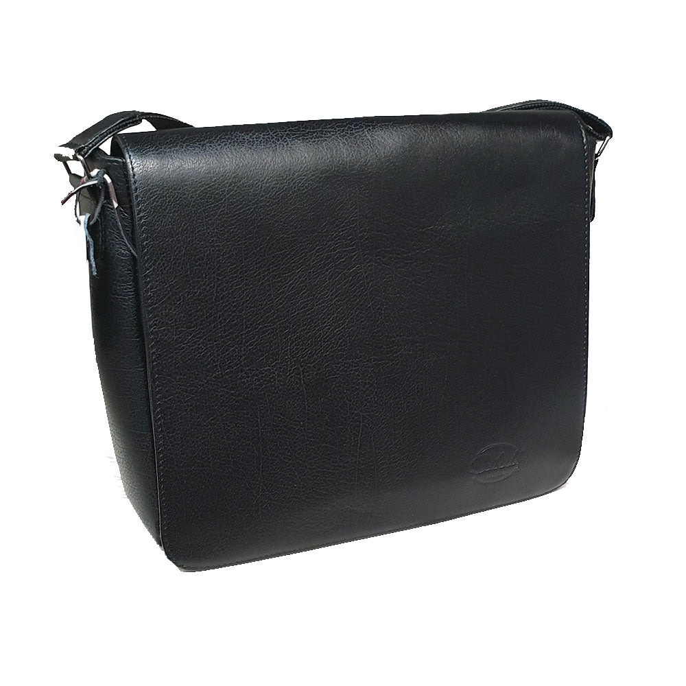 Men's genuine leather bag in black colour A4