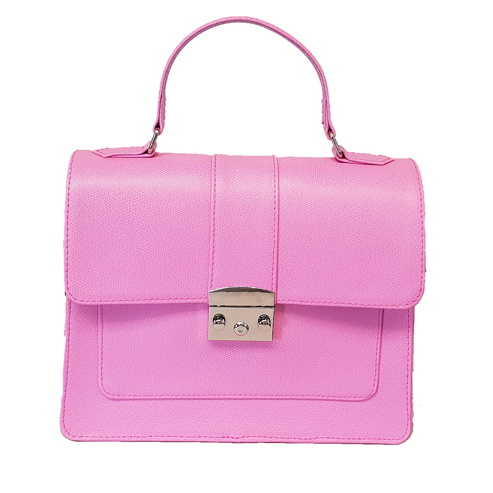 Women's genuine leather bag with black pink xxx