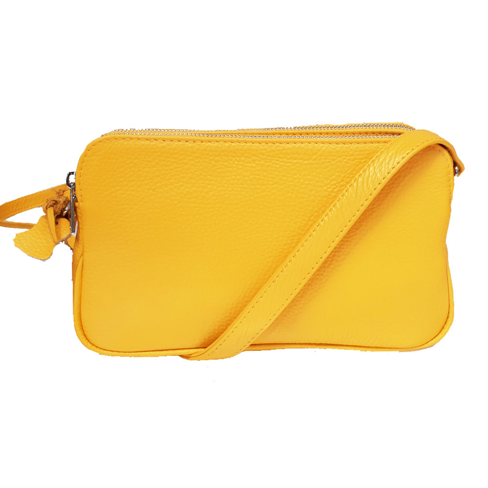 Women's genuine leather bag in yellow colour xxx