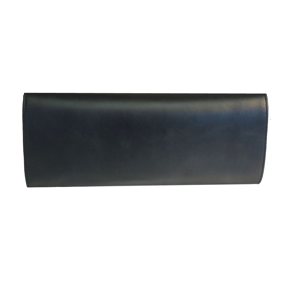 Women's genuine leather envelope purse in black colour