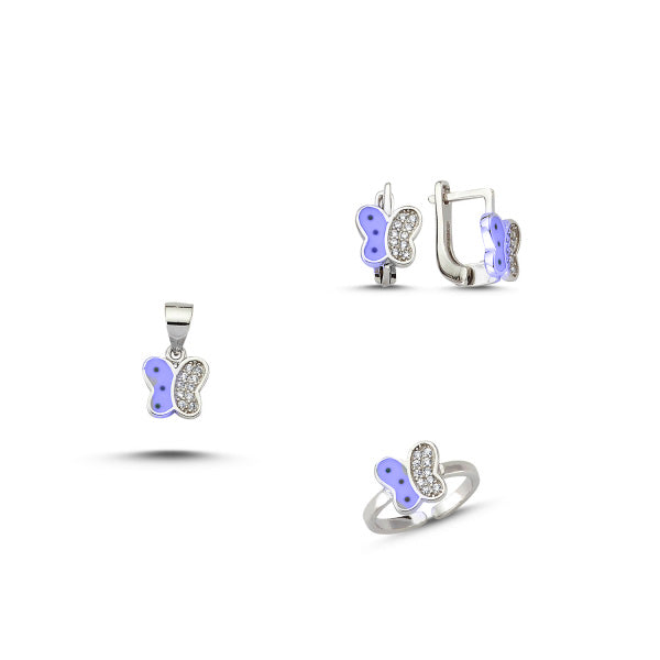 Kids Sterling Silver Butterfly Set