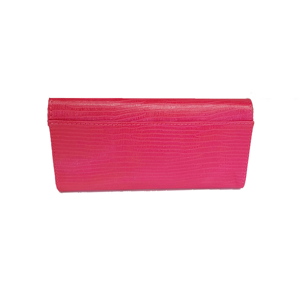 Women's genuine leather wallet in red colour