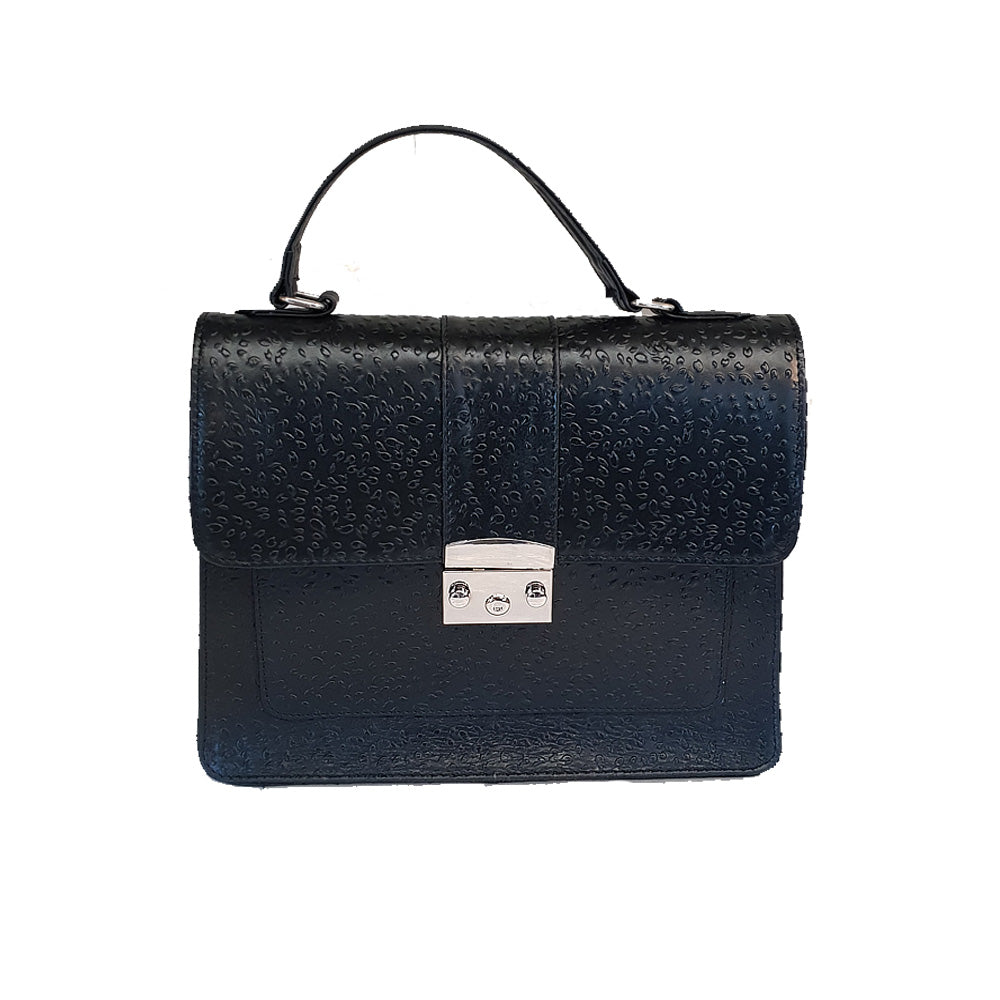 Women's genuine leather bag with black colour