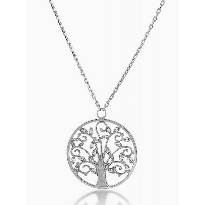 Women's Sterling Silver Tree Of Life Jewellery Set In A Gift Box z2ViqIXx3P