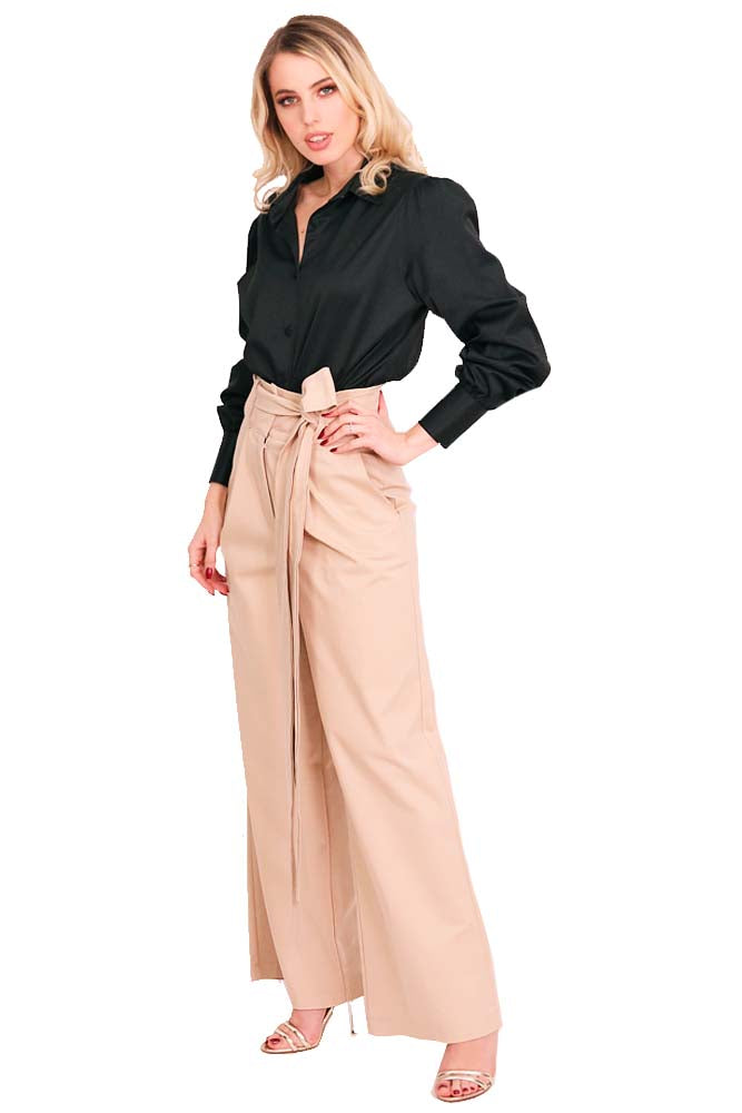 Casual - Cocktail long pants cotton beige