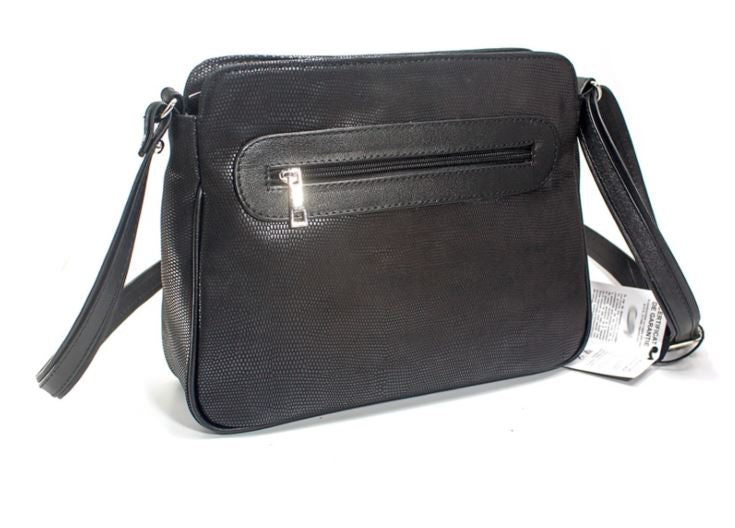 Women's genuine leather bag in black colour