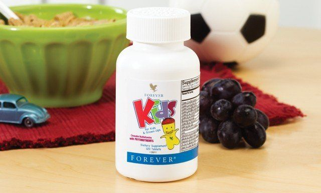 Forever Kids multivitamins obtained from fresh vegetables